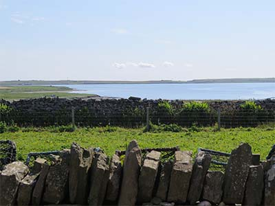 Mae Sands and more of Westray and Eday from the kitchen door.